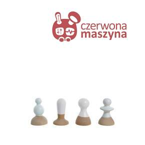 4 Wieszaki Eno Studio Talking Heads, białe