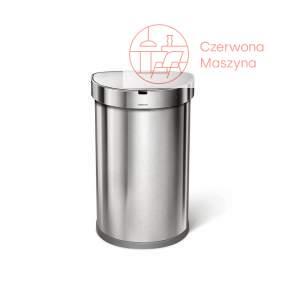 Kosz na śmieci bezdotykowy Simplehuman Sensor Liner Pocekt 45 l , srebrny