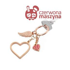 Breloczek Troika Love is in the Air, rose gold