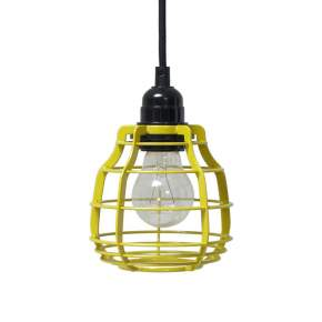 Lampa wisząca z włącznikiem HK Living Lab Ø 13 cm, żółta