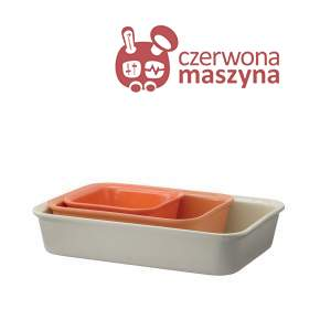 3 naczynia do zapiekania Rig-Tig Cook & Serve, orange