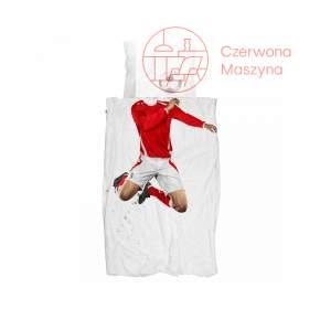 Pościel Snurk Soccer Champ 135 x 200 cm, czerwona