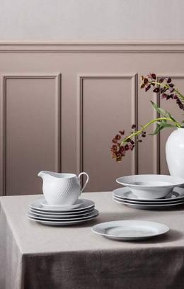 Kolekcja zastawy stołowej Lyngby Rhombe