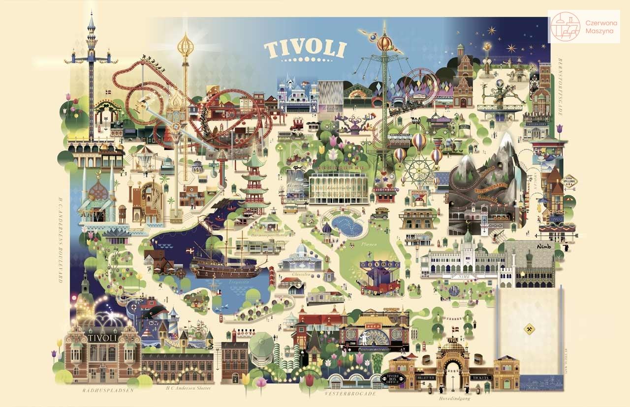 Mapa Ogrodów Tivoli