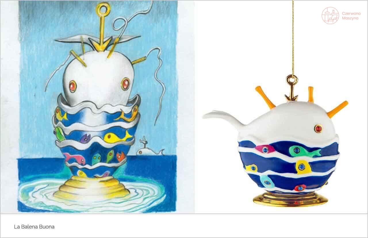 Zawieszka dekoracyjna Alessi La Balena Buona