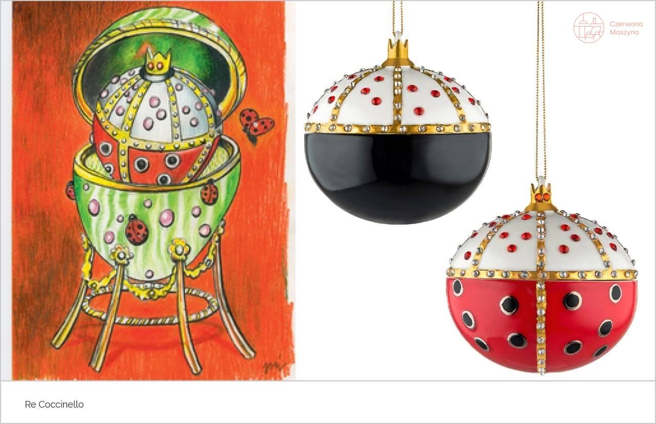 Zawieszka dekoracyjna Alessi Re Coccinello