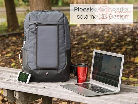 Plecak z ładowarką solarną XDDesign