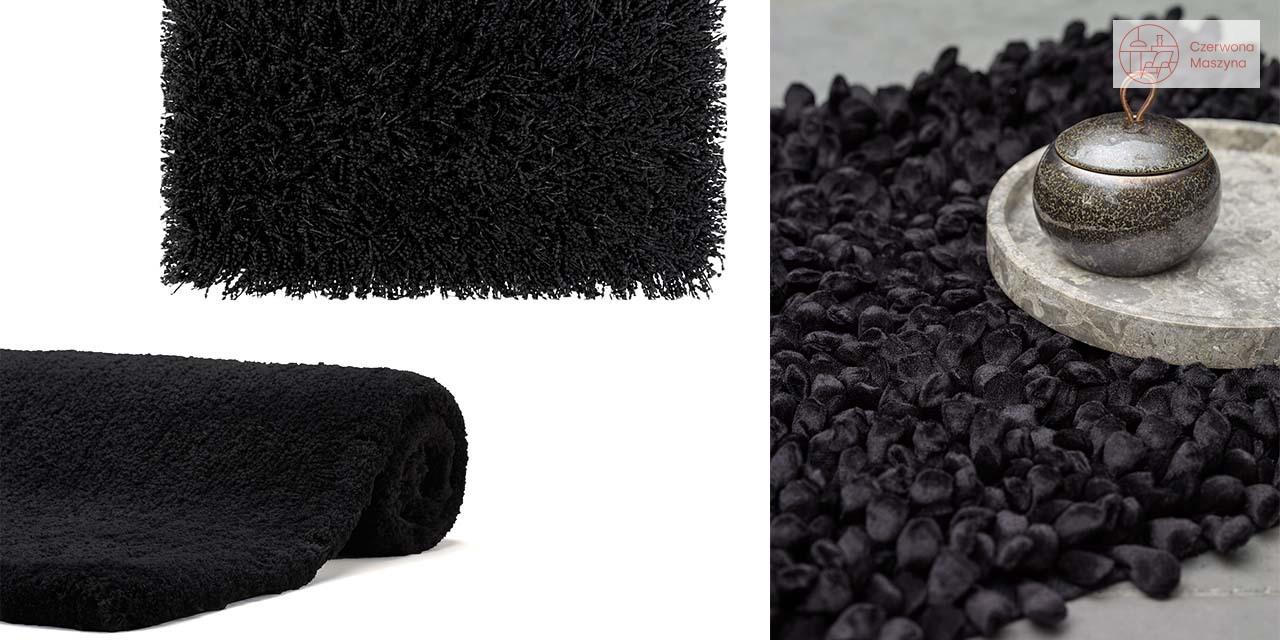 Czarne dywaniki łazienkowe
