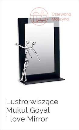 Lustro wiszące Mukul Goyal I love Mirror