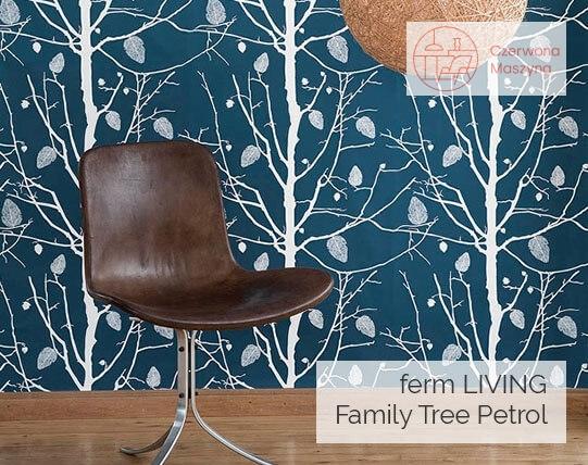 Tapeta ferm LIVING Family Tree Petrol