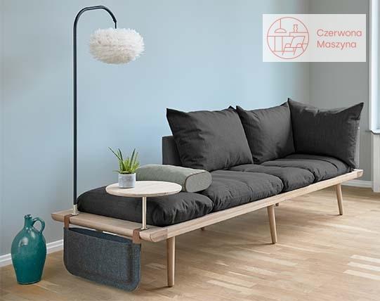 Sofa Umage Lunge ze stolikiem, lampą i kieszenią