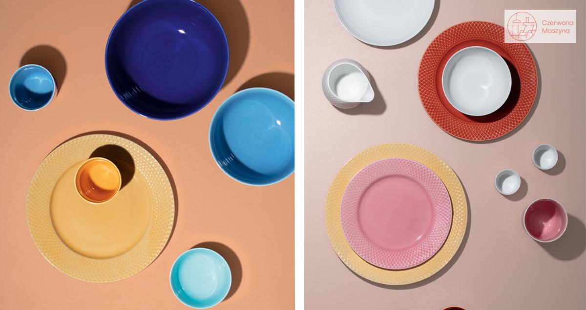 Kolorowa zastawa stołowa