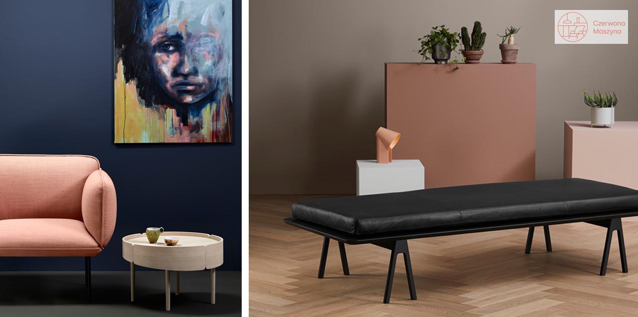 fotel i leżanka w stylu retro